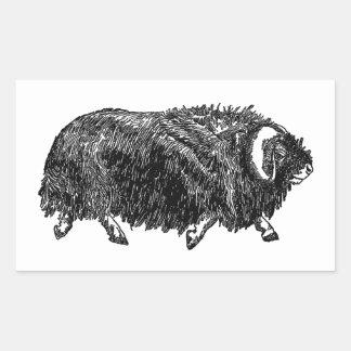 Musk Ox (illustration) Rectangular Sticker