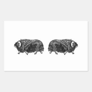 Musk Oxen Rectangular Sticker