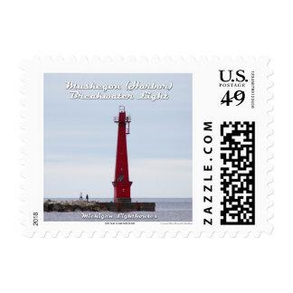 Muskegon Harbor Breakwater Light: 1st Class Stamp