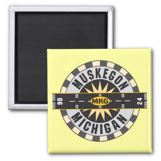 Muskegon, MI MKG Airport Magnet