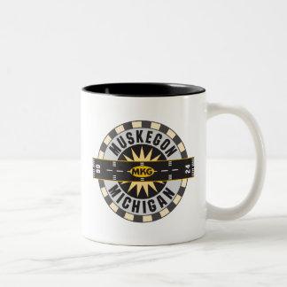 Muskegon, MI MKG Airport Two-Tone Coffee Mug