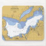 Muskegon, MI Nautical Harbor Chart Mouse Pad