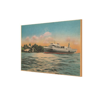 Muskegon, MI - View of Milwaukee Clipper Canvas Print