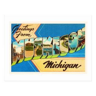 Muskegon Michigan MI Old Vintage Travel Souvenir Postcard