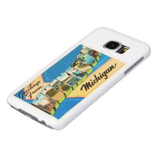 Muskegon Michigan MI Old Vintage Travel Souvenir Samsung Galaxy S6 Case