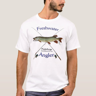 Muskellunge Freshwater angler fishing Tshirt. T-Shirt