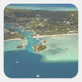 Musket Cove Island Resort, Malolo Lailai Island Square Sticker