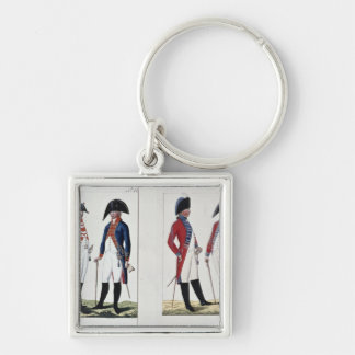 Musketeers and Officers, 1800 Keychain