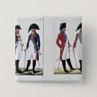 Musketeers and Officers, 1800 Pinback Button