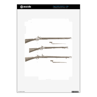 Muskets Old Rifles Vintage Antique Guns Decals For The iPad 2