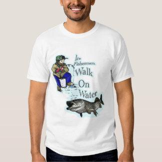 Muskie de la pesca del hielo camisas