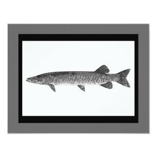 Muskie Fishing art Card