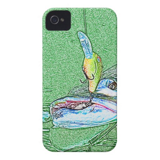 Muskie Fishing art Case-Mate Blackberry Case