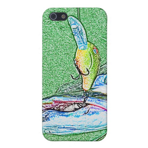 Muskie Fishing art Case For iPhone 5