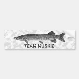 Muskie fishing logo bumper sticker