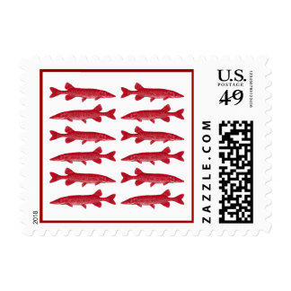 Muskie in Red Postage