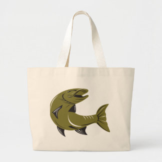 Muskie Muskellunge Fish Retro Canvas Bags