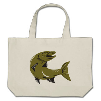 Muskie Muskellunge Fish Retro Tote Bags