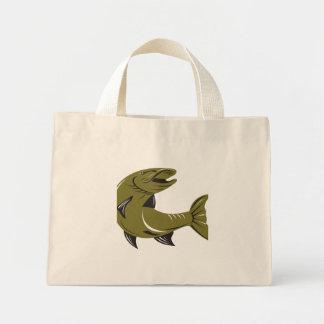 Muskie Muskellunge Fish Retro Canvas Bag
