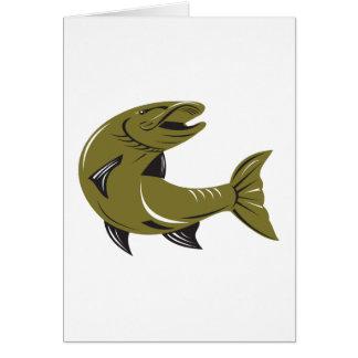 Muskie Muskellunge Fish Retro Greeting Card