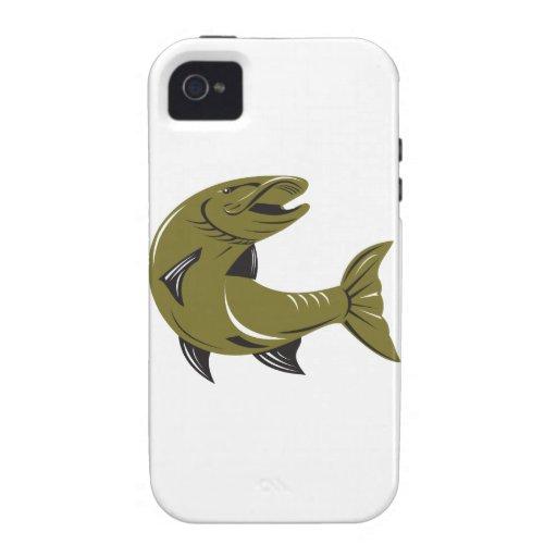 Muskie Muskellunge Fish Retro Case-Mate iPhone 4 Case