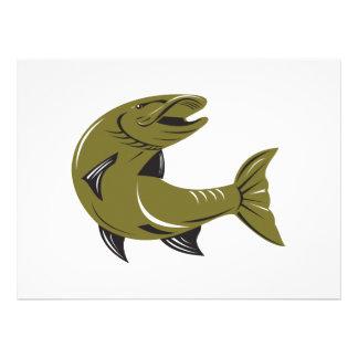 Muskie Muskellunge Fish Retro Personalized Invitations