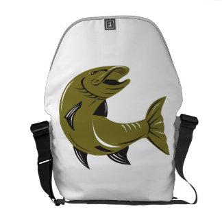 Muskie Muskellunge Fish Retro Messenger Bags