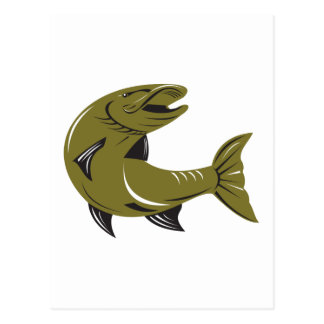 Muskie Muskellunge Fish Retro Post Card
