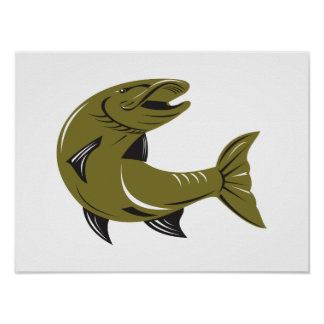 Muskie Muskellunge Fish Retro Posters