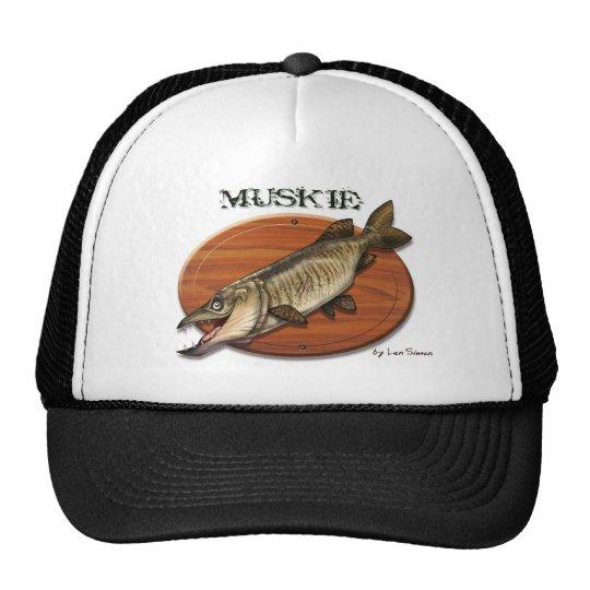 Muskie-Plaque Trucker Hat