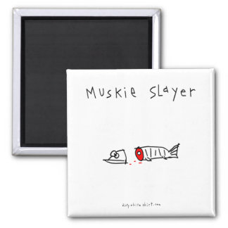 Muskie Slayer 2 Inch Square Magnet
