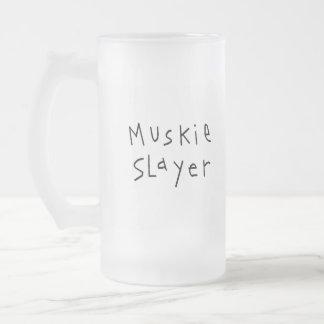 Muskie Slayer 16 Oz Frosted Glass Beer Mug