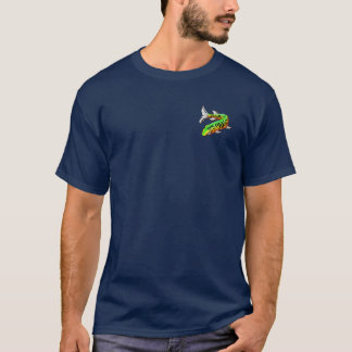 Muskie Wanted Poster Navy w/Front Pckt Design T-Shirt