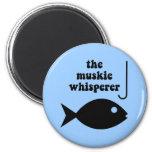 muskie whisperer fishing 2 inch round magnet