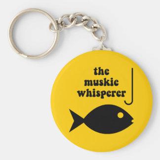 muskie whisperer fishing keychain