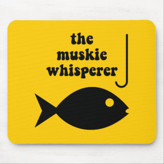 muskie whisperer fishing mouse pad
