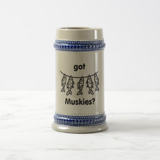 muskies conseguidos jarra de cerveza