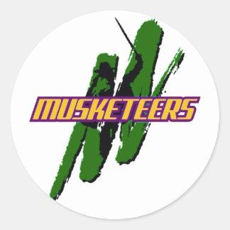 Muskies Logo Classic Round Sticker