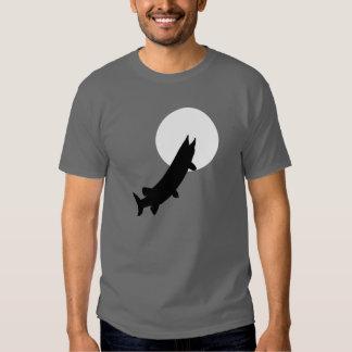 Muskies por la camiseta del claro de luna poleras
