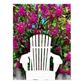 Muskoka / Adirondack Chairs & Lilac Postcard
