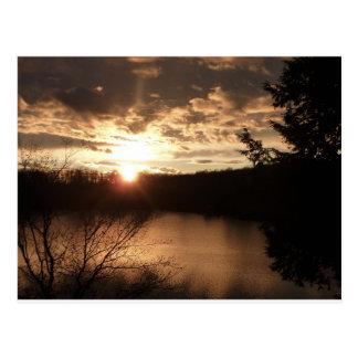 Muskoka at dusk post card