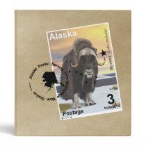 Muskox Stamp Souvenir 3 Ring Binder
