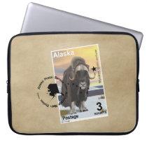 Muskox Stamp Souvenir Computer Sleeve