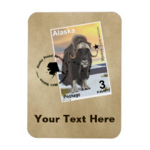 Muskox Stamp Souvenir Magnet