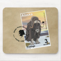 Muskox Stamp Souvenir Mouse Pad