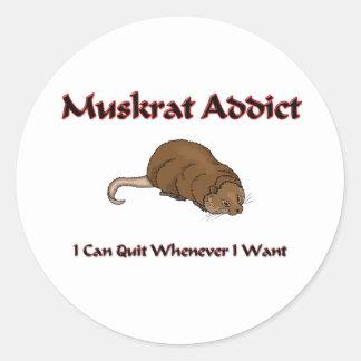 Muskrat Addict Classic Round Sticker