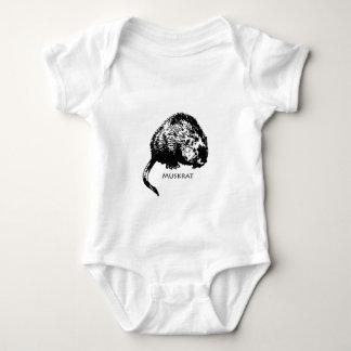Muskrat (illustration) baby bodysuit