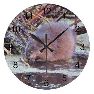 Muskrat Large Clock