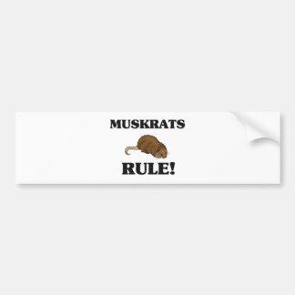 MUSKRATS Rule! Bumper Sticker