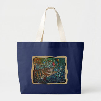 MUSKY Bucktl Bordered Large Tote Bag